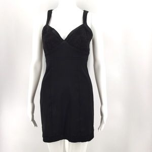 GUESS Dress 3 Satin Lace Black Floral Sexy Fitted